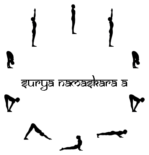 The 12 Steps of Surya Namaskar or Sun Salutation
